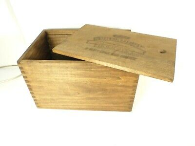 "Nice rare vintage KRAFT Wood Cheese Box, Spreadery, Finger jointed  9.5""x6.6""x6"""