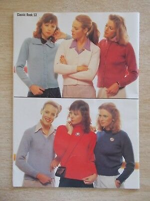 Patons #53~Classics~Bluebell~Totem~Jet~Knitting Patterns for Women