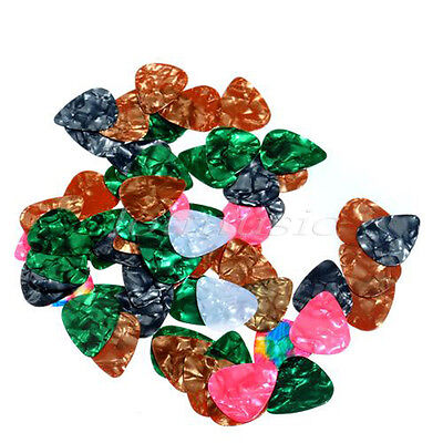20 Pcs Acoustic Electric Guitar Picks Assorted Various Celluloid Plectrums