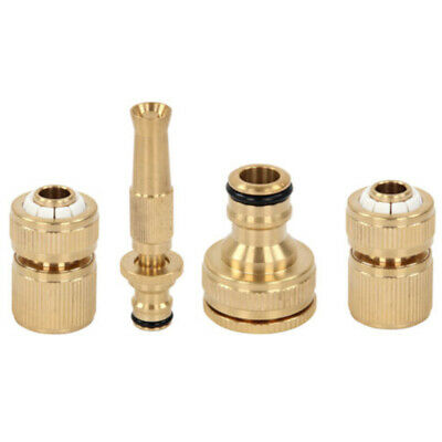 Attachment Hose Fitting Kit 4Pcs Anti rust Tap Quick Coupling Brass Spray