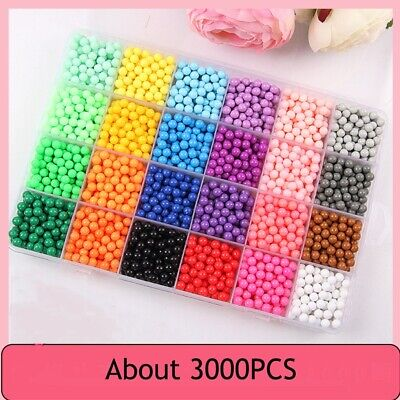 Water Fuse Beads 24 Colors 3000 Water Spray Beads Set Water Sticky Fuse Beads