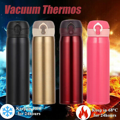 500 ml Isolierkanne Thermosflasche 0,5 Thermos rosa pink weiß Thermobehälter