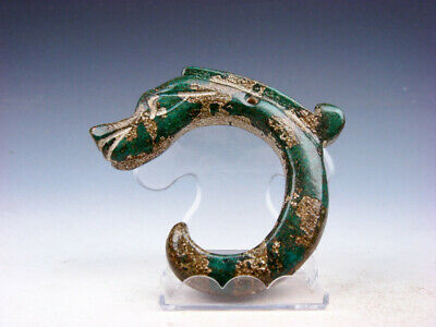 Old Nephrite Jade Carved HongShan Culture Sculpture C Shape Dragon #03302006