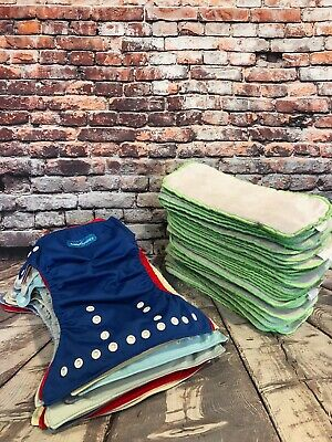15 Cloth diapers and 19  Inserts LOT Smartipants