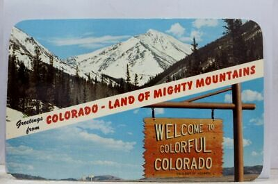 Colorado CO Land of Mighty Mountains Postcard Old Vintage Card View Standard PC