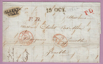Marque Sarde Albertville 9 Aed Grenoble Isere 1847 Lettre Cover