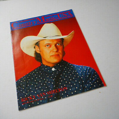 Ricky Van Shelton Country Music USA Magazine Cover August 1990 Crystal Gayle