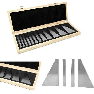 Steel Angle Gauge Block Set Metric Calibration Gage Blocks Case 12 Piece New