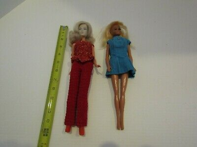 2 Vintage Mego Corp Doll Barbie Tammy Clone Reproduction Dolls Outfits