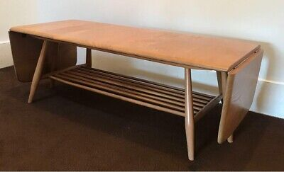 Vintage Mid Century Blonde Ercol Windsor Long John Coffee Table or Bench