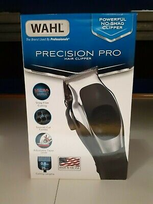 WAHL Precision Pro Hair Clipper Cutter Kit Corded Powerful No Snag Clipper New
