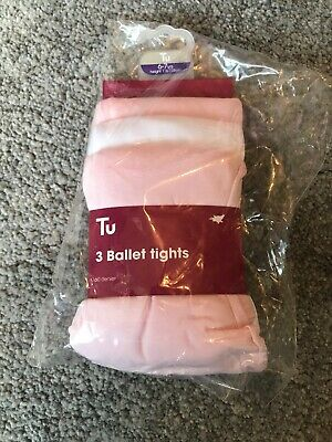 NEW 3 Pairs Girls Ballet Tights 6-7Yrs BNIP Girls Clothing Dancing Uniform Party