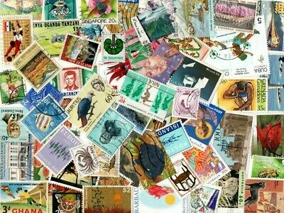 1/4 POUND ALL WORLD SELECTION inc COMMONWEALTH OFF PAPER STAMPS E409