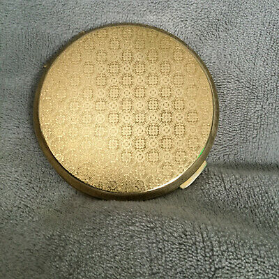 Vintage Stratton Gold Patterned Powder Compact