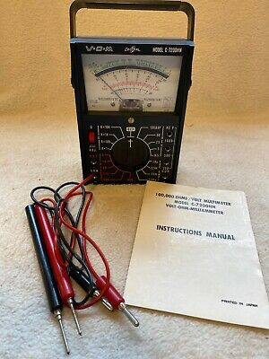 V O M Central Made In Japan ohms volt multimeter c-7200hn With Instructions