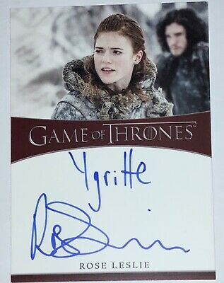 Rittenhouse Game of Thrones Season 8 Rose Leslie Auto Autograph Ygritte