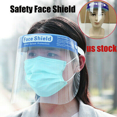 Safety Full Face Shield Anti-fog with Clear Transparent Work Industry Dental US
