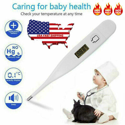 US Digital LCD Fahrenheit Thermometer Heating Fever Temperature Baby Adult Body