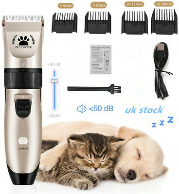Pet Dog Shave Clipper Hair Low Noise Cordless Electric Cat Grooming Trimming Kit