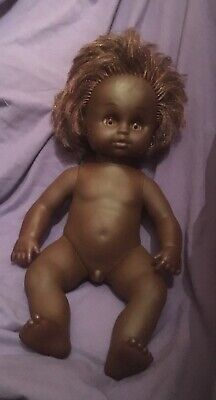 "Vintage Australian , "" Netta"" Dark. Coloured Boy Doll Anatomically  Corret"