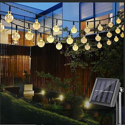 30 LED Ball Solar Party Fairy Outdoor Retor Ball String Lights for Patio &Garden