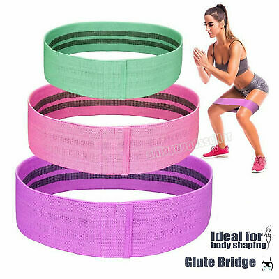 Resistance Bands Butt Exercise Loop Circles Legs Glutes Women Yoga Home UK