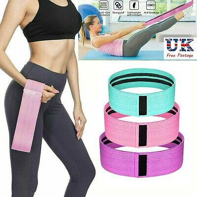Hot NEW Resistance Bands Booty Fabric Glutes Hip Circle Legs Squat Yoga Non Slip