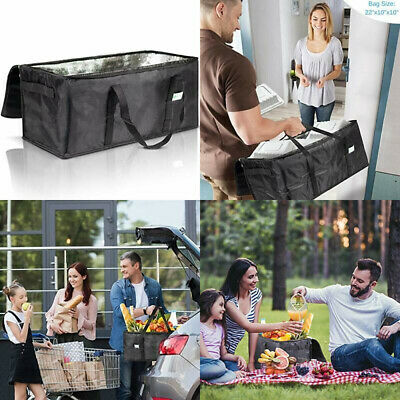 """Commercial Insulated Food Delivery Bag - 22"""" x 10"""" x Waterproof Delivery..."""