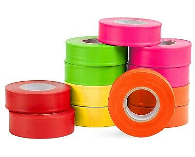 AdirPro 150 ft. x 2 in. Mixed Survey Construction Marking Flagging Tape 12 Pack