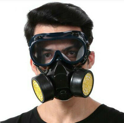 With Safety Goggles Full Protection Emergency Respirator Mask Chemical Gas Mask