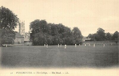 Hampshire Winchester The College The Mead Cricket Match Ll 52 Printed Postcard