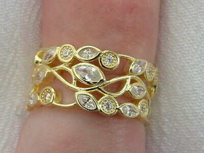 Gold On Silver Diamond Band