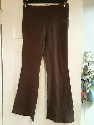 Justice Brown Stretch Yoga Sweat Pants Size 8 Girls Heart