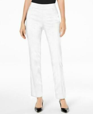 Jm Collection Petite Pull-On Pants Bright White Size PL