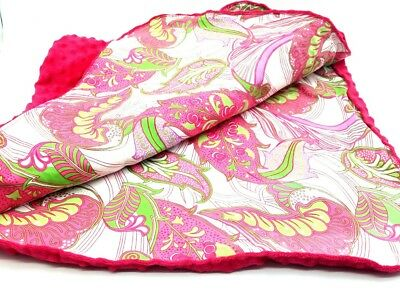 Carseat Canopy with Hot Pink Minky - for Baby Versatile Soft Cotton  808