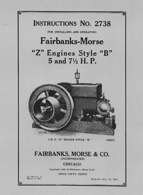 Fairbanks - Morse 5 & 7½ H.P. Manual No 2738