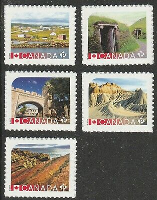 Canada 2719-2723 UNESCO World Heritage Sites 'P' set (5 stamps) MNH 2017
