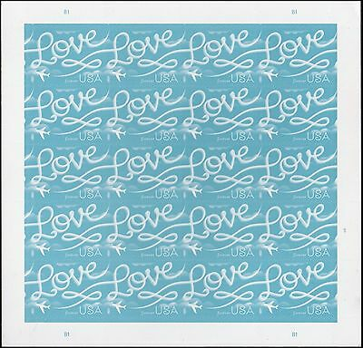 US 5155 Love Skywriting forever sheet (20 stamps) MNH 2017