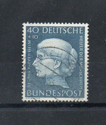 WEST GERMANY 1954 HUMANITARIAN RELIEF 40+10pf VAL. USED SG1129, CAT. £55