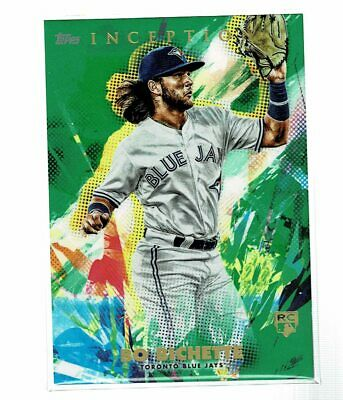 2020 Topps Inception Bo Bichette RC Rookie Green Parallel (KD)