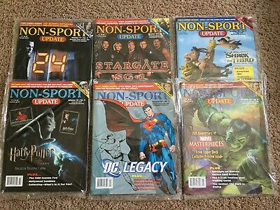 6) Dif NEW Sealed 2007 Non Sport Update NSU Magazine with Promos Lot Set Marvel