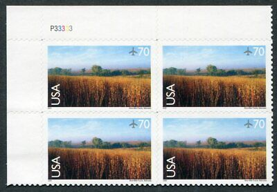 US  C136  Beautiful  Mint  NEVER  Hinged AIR  MAIL Plate  Block  UPTOWN