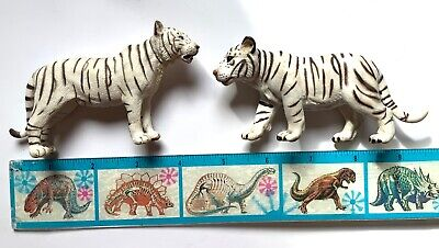 Schleich White Tiger Wild Animal Figure Toy Lot of 2 free shipping