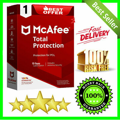McAfee Total Antivirus 2020 🔰 1 Devices ✔ 10 Years Protection Genuine License ✅