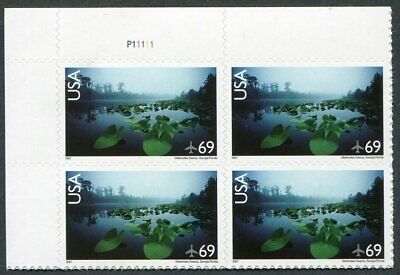 US  C142  Beautiful  Mint  NEVER  Hinged AIR  MAIL Plate  Block  UPTOWN
