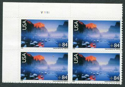 US  C141  Beautiful  Mint  NEVER  Hinged AIR  MAIL Plate  Block  UPTOWN