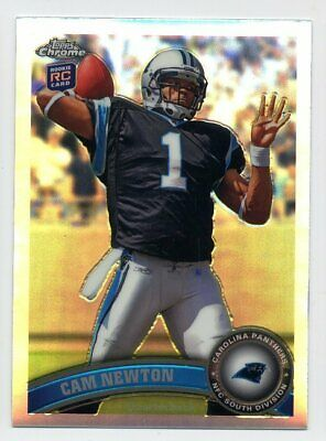 2011 Topps Chrome CAM NEWTON Rookie Card RC SILVER REFRACTOR 1 Carolina Panthers