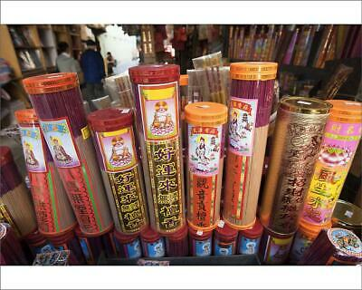 "10""x8"" (25x20cm) Print of China, Hong Kong, Incense Shop Display"
