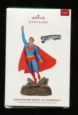 2019 Hallmark Keepsake Ornament -.CHRISTOPHER REEVE as SUPERMAN - New in Box