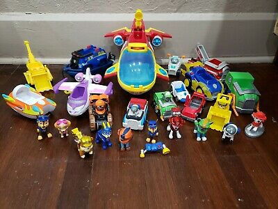 Paw Patrol Sub Patroller Figures and Vehicles Toy Lot